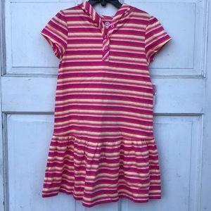 NWT J Khaki Multi Striped Hooded Tee Shirt Dress 5